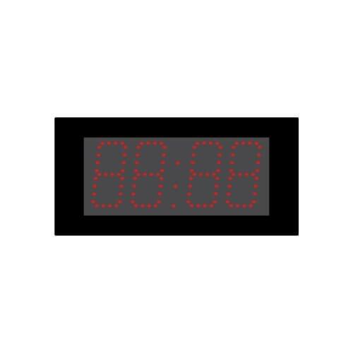 Tijd temperatuurklok led 10cm